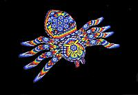 Huichol native bead art, tarantula spider. Nayarit, Mexico